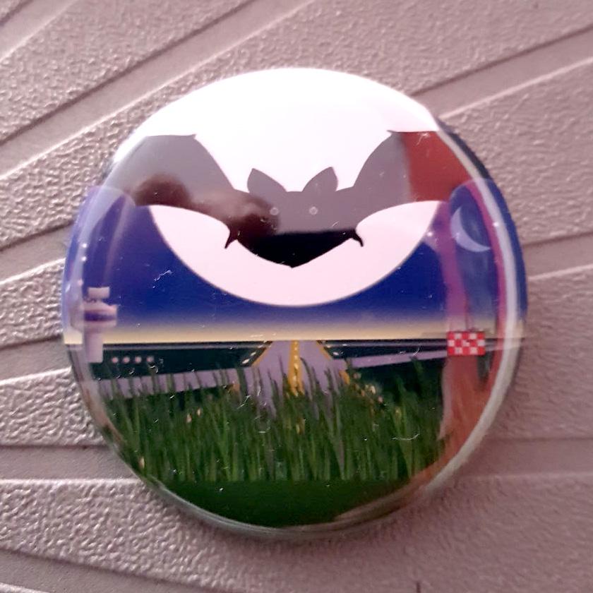 Buttons Airportcats - Dunkelgreif vorm Mond