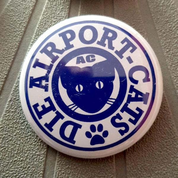 Button Airport-Cats Logo - Blau