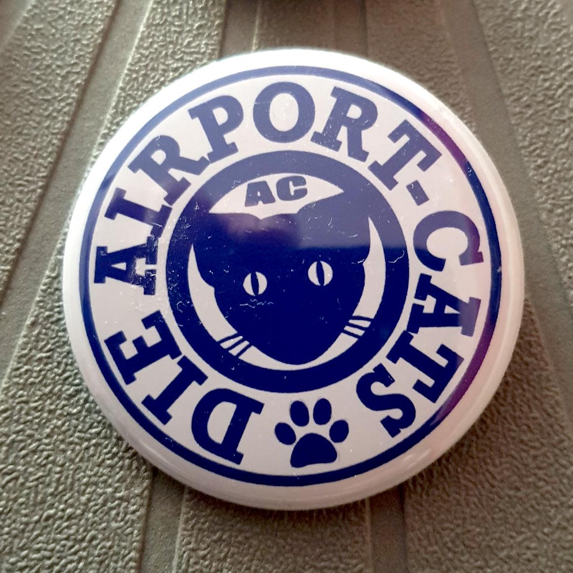 Button Airportcats Logo - Blau