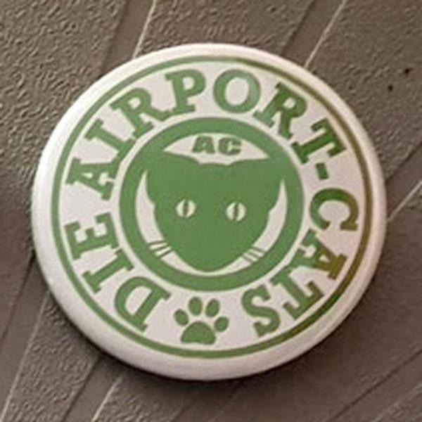 Button Airport-Cats Logo - Grün