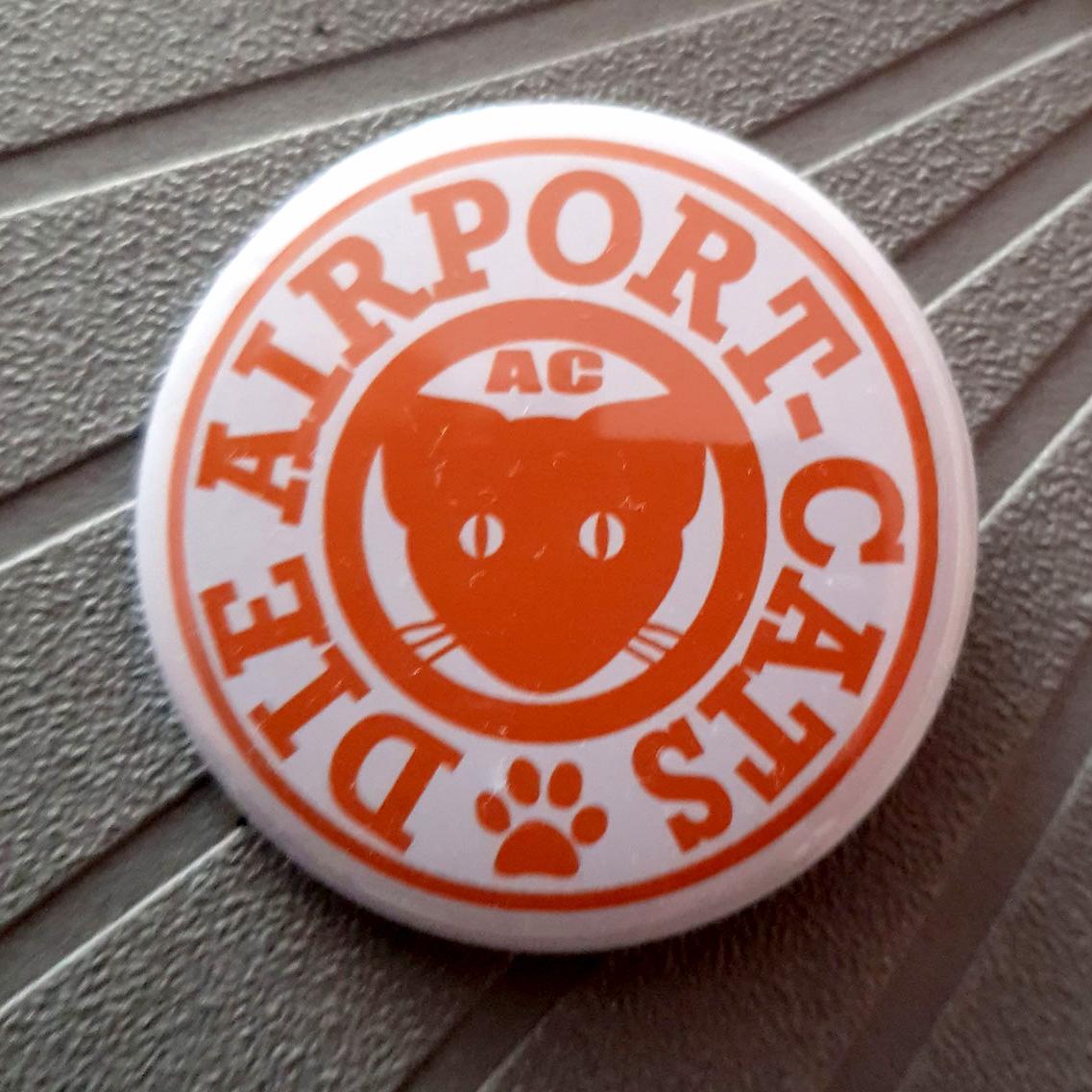 Button Airportcats Logo - Orange