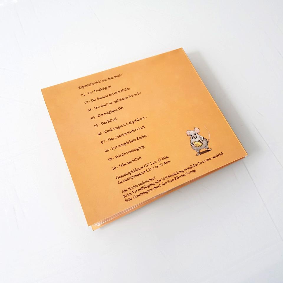 """Hörspiel Doppel-CD – Airportcats 1 """"Das sprechende Buch"""""""